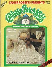 Cabbage Patch Kids PREEMIE DESIGNER CLOTHS Doll Xavier Roberts 1986 Book NEW