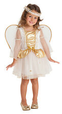 GIRLS TODDLERS WHITE ANGEL COSTUME CHRISTMAS FANCY DRESS OUTFIT & WINGS AGE 2-3