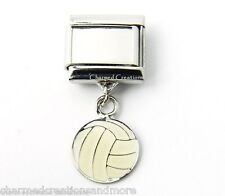 DIY Custom Photo Volleyball 9mm Italian Charm Stainless Sports Dangle Link