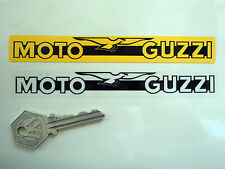 MOTO GUZZI Number Plate Dealer Logo Cover STICKER Yellow Motorcycle Bike LeMans