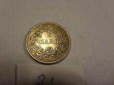 Reichsmark, 1 Mark, Reichsmünze, 1906 Buchstabe A silber  unbehandelt, top (21)