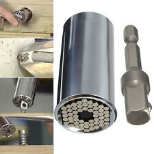 7-19mm Gator Grip Universal Socket Wrench w/ Power Drill Adapter Tool New