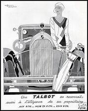TALBOT AUTO LUXUS ELEGANZ MODE FRAUEN GOLF 1932