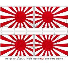 JAPON SOLEIL LEVANT Drapeau 50mm Sticker Autocollant x4