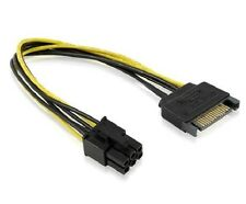 15 Pin SATA Male Power to 6 pin PCI Express Card Power Cable Adapter