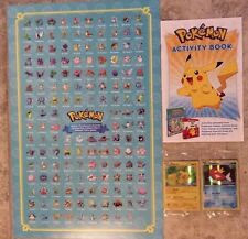 Toys R Us Pikachu + Magikarp Exclusive Promo Cards, Poster, Activity Book Rare