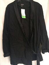 H&M Conscious Collection Blazer Kimono SMART tendenza Premium Nero Setosa
