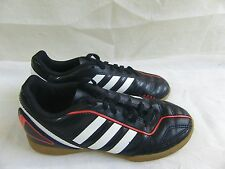 New Boys Adidas Junior Davicto Soccer Shoes G61764 Size 2 BlackWhiteRed   13A