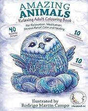 RELAXING Adult Colouring Book : Amazing Animals - for Relaxation, Meditation,...