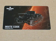 Gamescom 2015 World of Tanks Roll Out  Invite Code