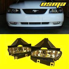 1999-2004 Ford Mustang GT Front Bumper Clear Fog Lights Driving Lamps+Bulbs Pair