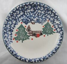 Stoney Hill Up Country# 2366  Cabin In The Snow Salad Plate(s) NEW Out Of Box