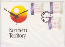 Frama stamps barred edge 33c issue button set 3 on Northern Territory tourism
