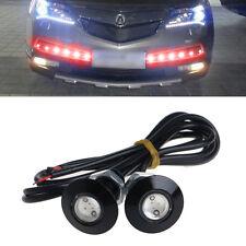 1 Pair Ultra Thin Car LED DRL Daytime Running Light Eagle Eye Lamp Red 23mm 12V
