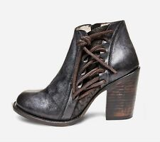 Freebird By Steven Brook Black Distressed Leather Ankle Boot Size 10 NIB