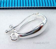 1x STERLING SILVER CHANGEABLE PENDANT BAIL CLASP SLIDER CONNECTOR #2022
