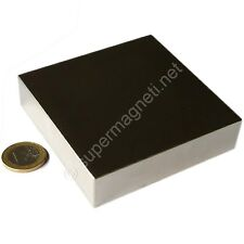 Super Magnete Solido in Neodimio 80x80x20 mm Potenza 400 Kg Acqua Magnetizzata