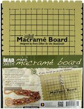 Beadsmith Mini Macrame Board for Micro Macrame 6 Inches x 9 Inches