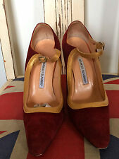 Manolo Blahnik Suede Mary Janes - size 40/7
