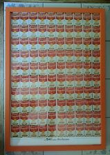 """Andy Warhol """"Campbell's 100 Soup Cans"""" Litho/Poster, Professionally Framed"""