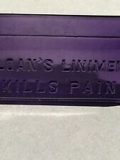 NICE PURPLE SLOAN'S LINIMENT KILLS PAIN 3 OZ ANTIQUE BOTTLE GREAT DECOR!
