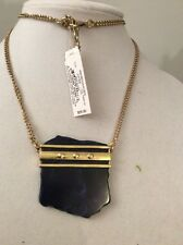 Lucky Brand Gold Tone Organic Lapis Necklace $55 #145