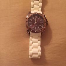 ANNE KLEIN LADIES SWAROVSKI CRYSTAL ACCENTED AND IVORY BAND