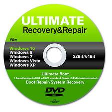 ✔ virus-Strada & Repair BOOT CD DVD per Win 7 - 8 - 10 + vista