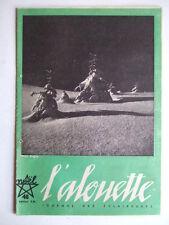 L'ALOUETTE NOËL DECEMBRE 1946 JOURNAL DES ECLAIREUSES FFE SCOUTISME BADEN-POWELL