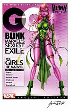 XMEN BLINK SEXY MAGAZINE COVER GIRL ART PRINT / SIGNED BY ARTIST JAMIE TYNDALL