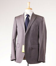 NWT $2375 ETRO Dove Beige-Gray Stripe Wool Suit 38 R Paisley Lining