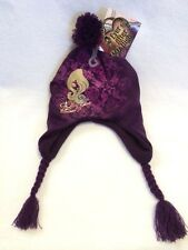 NWT Ever After High Purple Braided Tassel Hat Cap Winter Snow Whos The Fairest