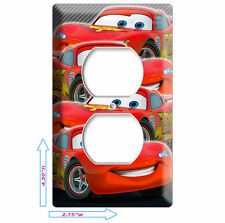 NEW CARS 2 LIGHTNING MCQUEEN DISNEY OUTLET COVER PLATE BOYS GAME ROOM DECORATION