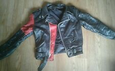 Vintage Leather Motorcycle Jacket One Of A Kind ( Red distressed 60s BRMC punk )