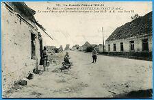 CPA: Neuville-St-Vaast  - La route d'Arras après les combats / Guerre 14-18