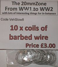 Early War 20mm (1/72) Barbed Wire Coils (x10)