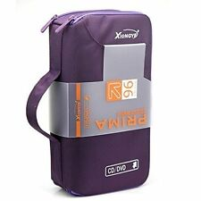 new 96 Disc CD VCD DVD Blu-Ray Storage Bag Wallet Holder Case Box -purple