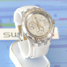 Swatch  Diaphane Chrono Automatic Watch Right Track White SVGK406.