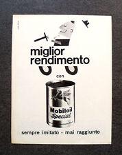 L011-Advertising Pubblicità-1962- MOBILOIL SPECIAL , MIGLIOR RENDIMENTO