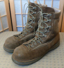 "Danner Boots  USA Made Shoes Size 11.5 Steel Toes 9""  Brown Marine Mojave NMT"