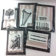 LaBlanche Foam Rubber Victorian Women Harp FountaIn Pen Steampunk Stamp Lot