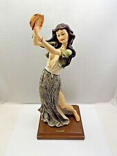 Giuseppe Armani Figurine #417C Gypsy Dancer, Woman w/ Green Skirt & Tambourine