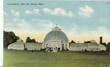 America Postcard - Conservatory - Belle Isle - Detroit - Michigan  A9567