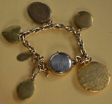 Vintage John Wind Maximal Art Bracelet Watch locket charm