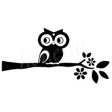 Funny Owl Window Door Car Sticker Laptop Black Vinyl Decal Sticker Decor Gift
