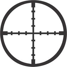 "Sniper Crosshair Military Car Window Decor Vinyl Decal Sticker- 6"" Wide White"