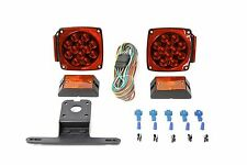 Red/White LED Stop Trailer Light Kit 12V Tail Turn Lights Truck Trailer Boat