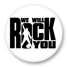 "Pin Button Badge Ø25mm 1"" Queen Freddie Mercury We Will Rock You"