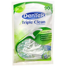 Dentek Triple Clean Floss Picks 90ct Fresh Mint