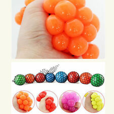 Anti Stress Face Reliever Squishy Mesh Ball Grape Squeeze Relief Healthy Toys